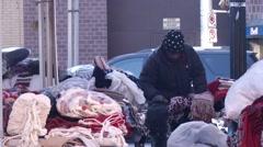 Vendor in Ottawa's Byward Market Stock Footage