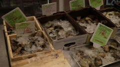 Fish in a small town local market Stock Footage