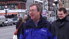 Ottawa Canada November 2014 - Mayor Watson Surveys Local Event in Byward Market Stock Footage