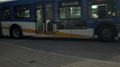 Bus depot at SFU Burnaby BC - stock footage