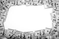 Dollars photography: frame of 100 dollars banknotes Stock Photos