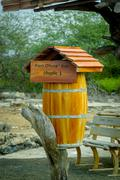 post office box in galapagos islands - stock photo
