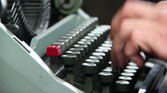man using typewriter - stock footage