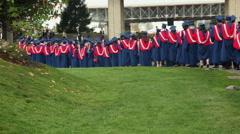 University graduates Stock Footage