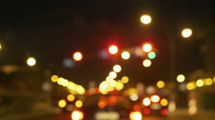 Cars riding on the road at night, steadycam shot Stock Footage