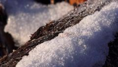 cold icy winter background - stock footage