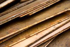 old lumber - stock photo