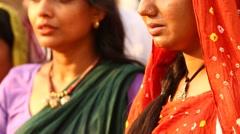Village Poor Indian Women in Disert Rajasthan India Stock Footage