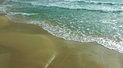 Seaside and Golden Sand Stock Footage