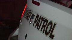Highway patrol logo with lights Arkistovideo
