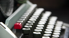 Typewriter lateral dolly Stock Footage