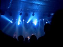 People listening concert of rock band on november 13,2014 in Cracow Stock Footage