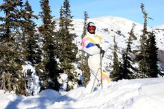 A man is a mountain-skier. Stock Photos