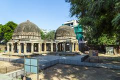 Three domed building in hauz khas Stock Photos