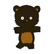 Stock Illustration of cute comic cartoon black bear
