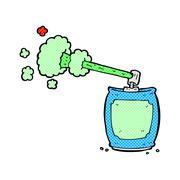 comic cartoon aerosol spray can - stock illustration