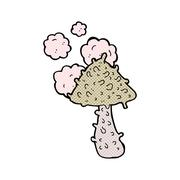 Stock Illustration of comic cartoon weird mushroom