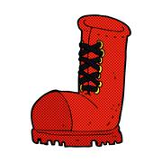 comic cartoon old work boot - stock illustration