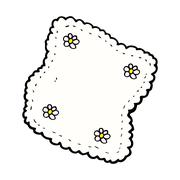 comic cartoon handkerchief - stock illustration