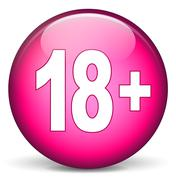 Stock Illustration of adult pink round icon