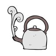 Stock Illustration of comic cartoon old kettle