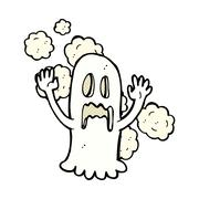 Stock Illustration of comic cartoon spooky ghost