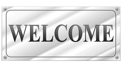 welcome signboard - stock illustration