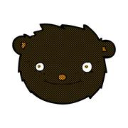 Stock Illustration of comic cartoon black bear head