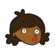 Stock Illustration of comic cartoon pretty face