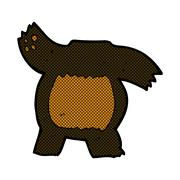 comic cartoon black bear body (mix and match or add own photos) - stock illustration