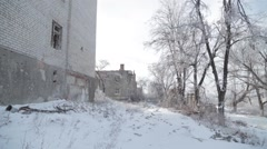 The tragedy in Ukraine. Donbass. - stock footage