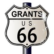 grants route 66 sign - stock illustration
