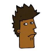 Stock Illustration of comic cartoon nervous expression
