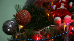 Christmas tree ornaments 5 Stock Footage