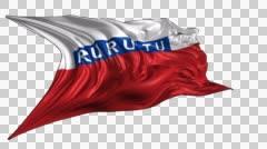 Flag of Rurutu Stock Footage