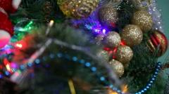 Christmas tree ornaments 2 Stock Footage
