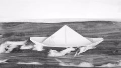 Paper-boat animation loop Stock Footage