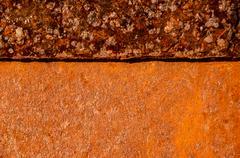 Oxidized metal surface Stock Photos