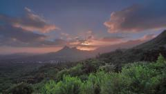 Beautiful Landscape Dawn, Pali, Oahu, Hawaii, HDR Wide Time Lapse 4k - stock footage