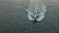 Rome Italy Civitavecchia Port coast guard boat 4K 048 Stock Footage