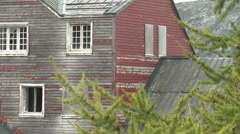 Abandoned mining town in Greenland Stock Footage
