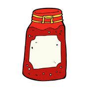 Stock Illustration of comic cartoon jar of jam
