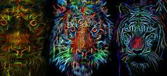 Werewolf & tigers Stock Illustration