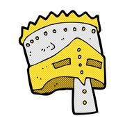 comic cartoon king's armor - stock illustration