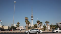 Liberation Tower in Kuwait Stock Footage