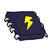 comic cartoon computer chip - stock illustration