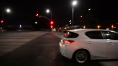 Driving Plates Night S02C02 CAM3 L View 02 Los Angeles Fairfax and Venice Blvd Stock Footage