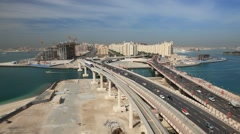 Palm Jumeirah, Dubai Stock Footage