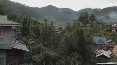 Philippine village in the mountains of North Luzon, Sagada Stock Footage