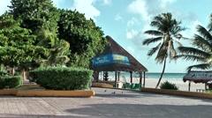 Mexico Quintana Roo Caribbean Sea Playa Del Carmen 003 the waterfront promenade Stock Footage